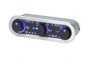 DCC Digital Climate Control - Vintage Air Gen IV - 3-Knob - Horizontal, Satin, Black Alloy, Blue Display