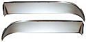 1960-1963 Door Vent Shades (Stainless) - GM Truck