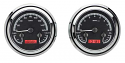 1947-1953 Chevrolet & GMC Truck VHX Instrument Gauge Cluster - Black Face / Red Illumination