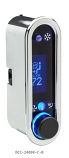 DCC Digital Climate Control - Vintage Air Gen IV - VFD3 Style - Vertical Chrome, Blue Display