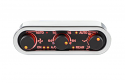 DCC Digital Climate Control - Vintage Air Gen IV - 3-Knob - Horizontal, Chrome, Black Alloy, Red Display