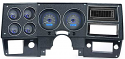1973-1987 Chevrolet & GMC Truck VHX Instrument Gauge Cluster - Carbon Fiber Face / Blue Illumination