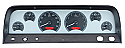 1964-1966 VHX Series Instrument Cluster Silver Face Red Illumination - GM Truck (Free Shipping)