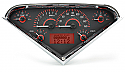 1955-1959 VHX Series Gauge Cluster (Carbon Fiber Face Red Illumination) FREE SHIPPING