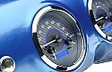 1947-1953 Chevrolet & GMC Truck VHX Instrument Gauge Cluster - Carbon Fiber Face / Blue Illumination