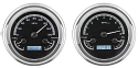 1947-1953 Chevrolet & GMC Truck VHX Instrument Gauge Cluster - Black Face / White Illumination