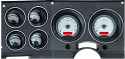 1973-87 Chevy Truck Silver with Red Illumination VHX Series Instrument Cluster (Free Shipping)