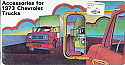1973 Accessories Color Brochure Chevy Truck